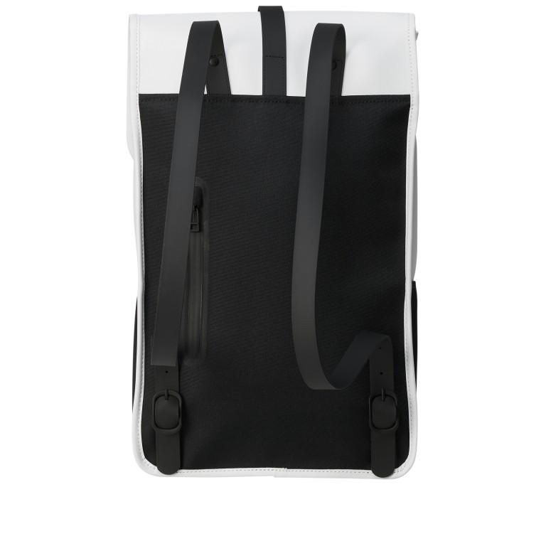 Rucksack Backpack Off White, Farbe: weiß, Marke: Rains, EAN: 5711747469160, Abmessungen in cm: 28.5x47.0x10.0, Bild 2 von 5