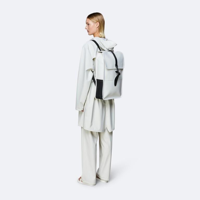Rucksack Backpack Off White, Farbe: weiß, Marke: Rains, EAN: 5711747469160, Abmessungen in cm: 28.5x47.0x10.0, Bild 3 von 5