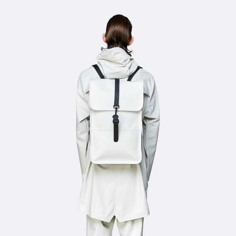 Rucksack Backpack Off White, Farbe: weiß, Marke: Rains, EAN: 5711747469160, Abmessungen in cm: 28.5x47.0x10.0, Bild 4 von 5