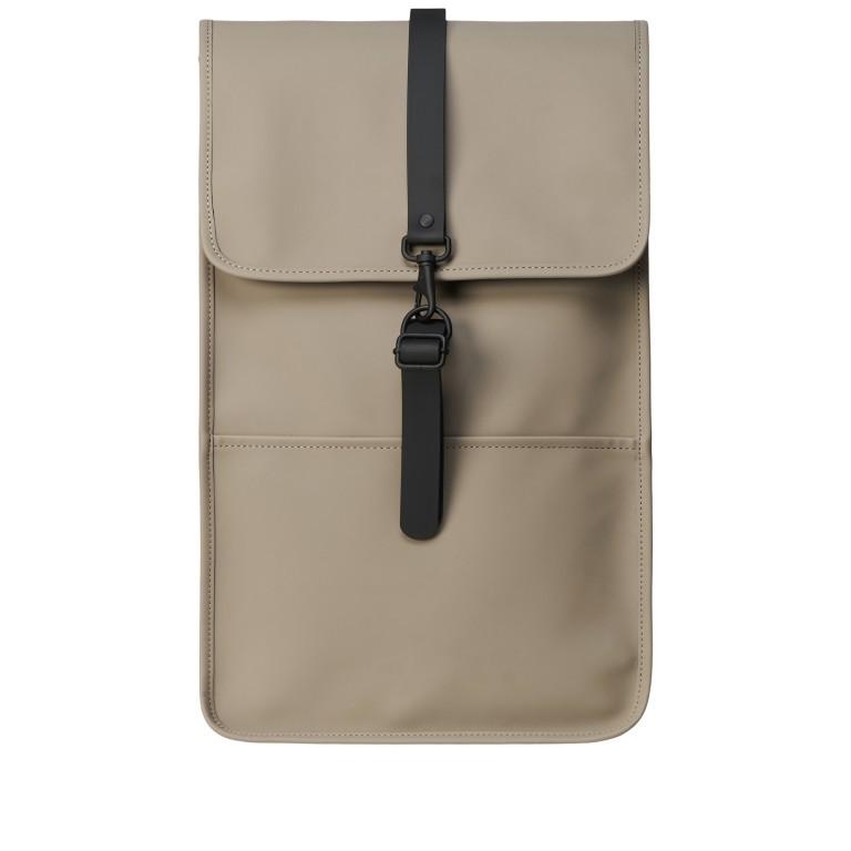 Rucksack Backpack Taupe, Farbe: taupe/khaki, Marke: Rains, EAN: 5711747469146, Abmessungen in cm: 28.5x47.0x10.0, Bild 1 von 5
