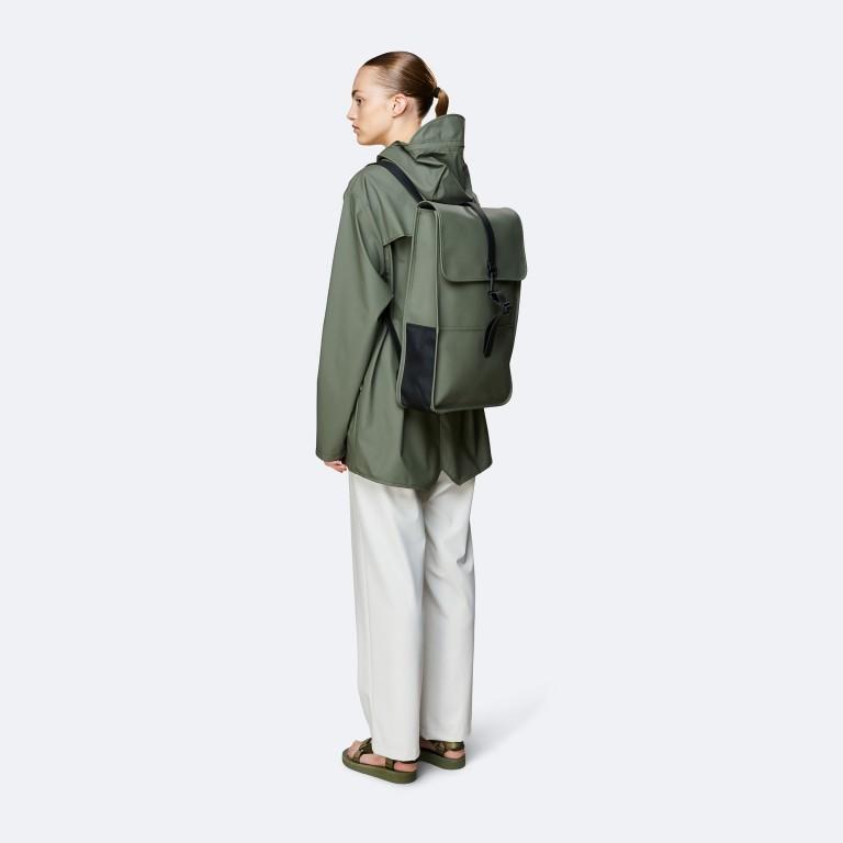 Rucksack Backpack Olive, Farbe: grün/oliv, Marke: Rains, EAN: 5711747469153, Abmessungen in cm: 28.5x47.0x10.0, Bild 3 von 5