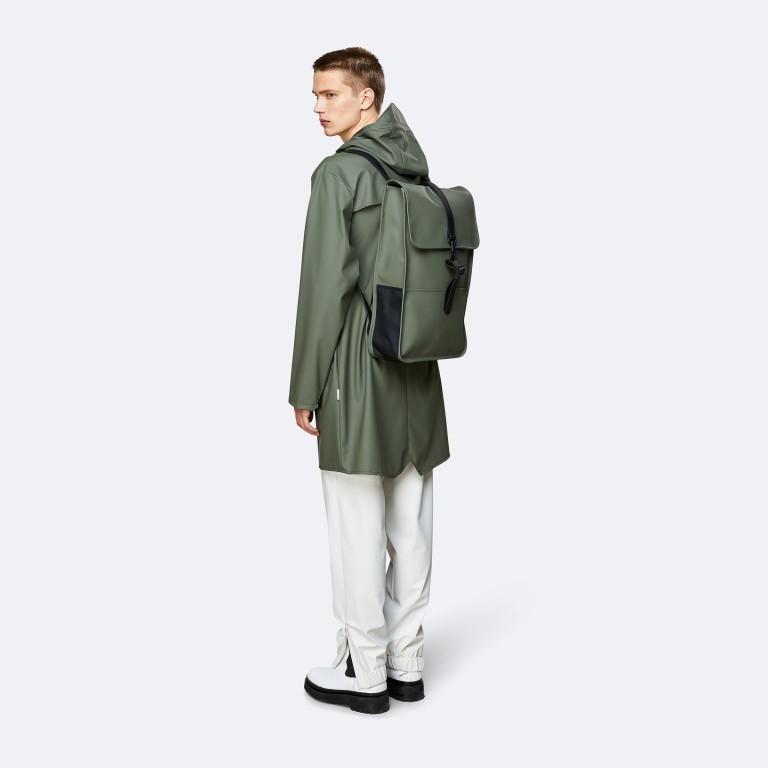 Rucksack Backpack Olive, Farbe: grün/oliv, Marke: Rains, EAN: 5711747469153, Abmessungen in cm: 28.5x47.0x10.0, Bild 4 von 5