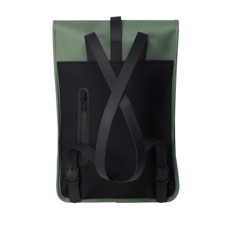 Rucksack Backpack Mini Olive, Farbe: grün/oliv, Marke: Rains, EAN: 5711747469610, Abmessungen in cm: 27.0x39.0x8.0, Bild 2 von 5