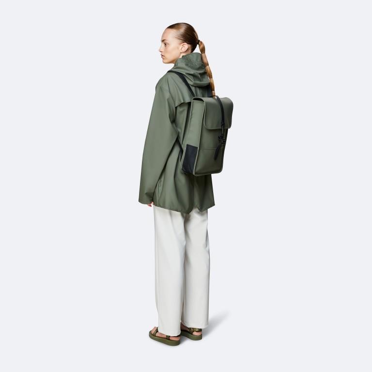 Rucksack Backpack Mini Olive, Farbe: grün/oliv, Marke: Rains, EAN: 5711747469610, Abmessungen in cm: 27.0x39.0x8.0, Bild 3 von 5