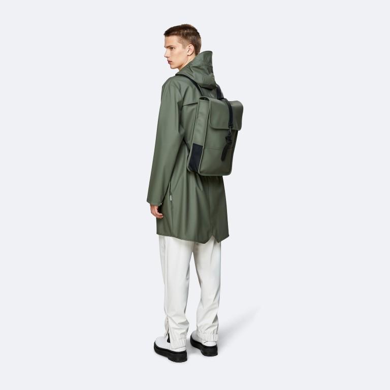 Rucksack Backpack Mini Olive, Farbe: grün/oliv, Marke: Rains, EAN: 5711747469610, Abmessungen in cm: 27.0x39.0x8.0, Bild 4 von 5