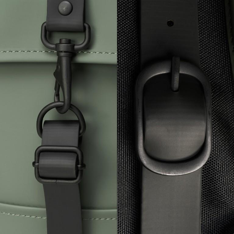 Rucksack Backpack Mini Olive, Farbe: grün/oliv, Marke: Rains, EAN: 5711747469610, Abmessungen in cm: 27.0x39.0x8.0, Bild 5 von 5