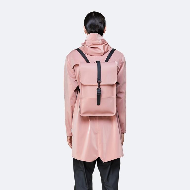 Rucksack Backpack Mini Blush, Farbe: rosa/pink, Marke: Rains, EAN: 5711747469627, Abmessungen in cm: 27.0x39.0x8.0, Bild 4 von 5