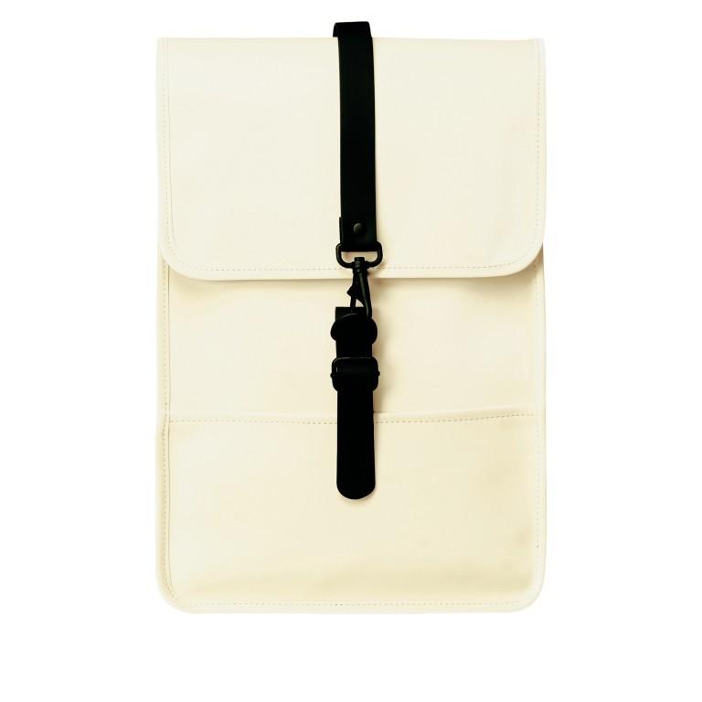 Rucksack Backpack Mini Pearl, Farbe: beige, Marke: Rains, EAN: 5711747469634, Abmessungen in cm: 27.0x39.0x8.0, Bild 1 von 5