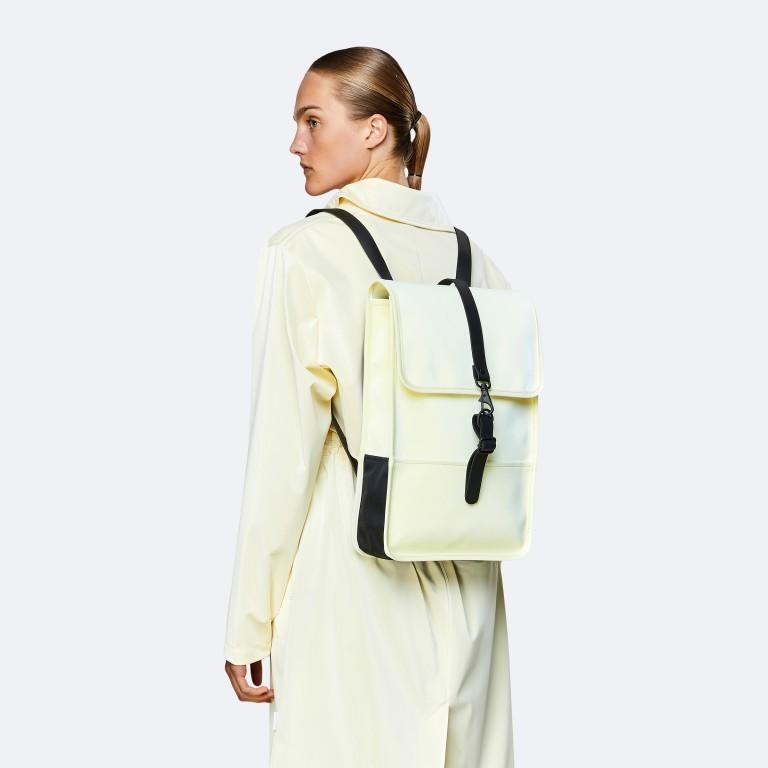 Rucksack Backpack Mini Pearl, Farbe: beige, Marke: Rains, EAN: 5711747469634, Abmessungen in cm: 27.0x39.0x8.0, Bild 3 von 5