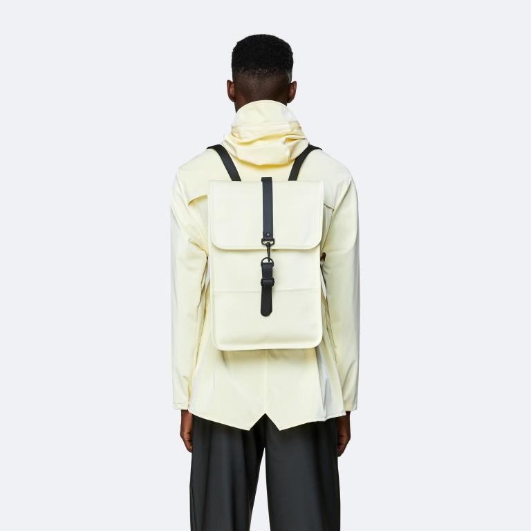 Rucksack Backpack Mini Pearl, Farbe: beige, Marke: Rains, EAN: 5711747469634, Abmessungen in cm: 27.0x39.0x8.0, Bild 4 von 5