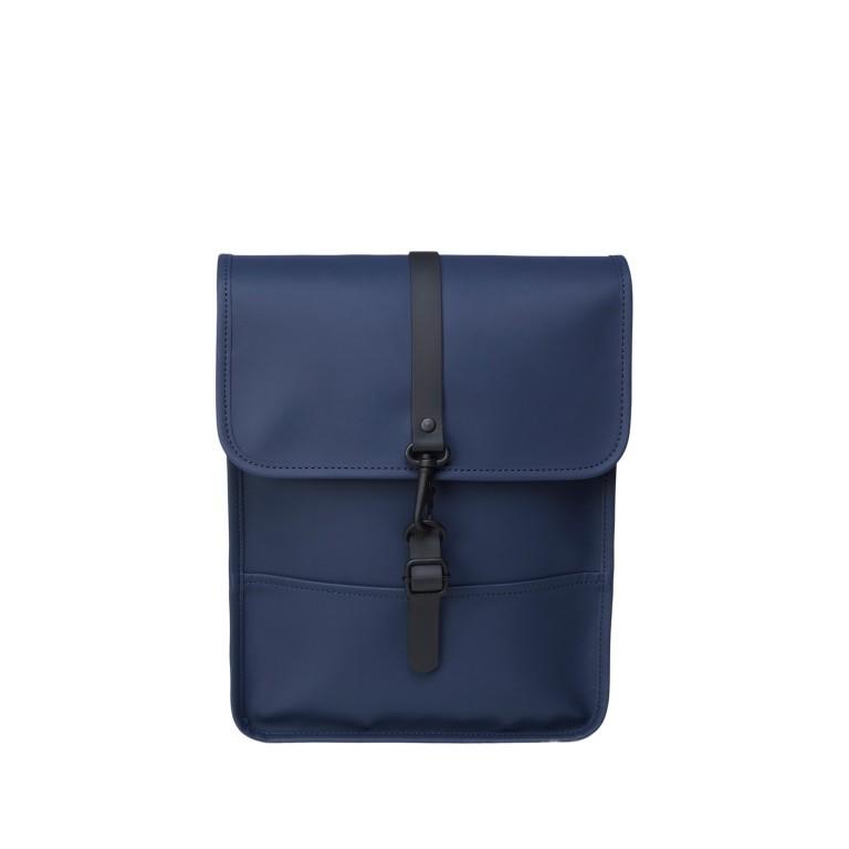 Rucksack Backpack Micro Blue, Farbe: blau/petrol, Marke: Rains, EAN: 5711747472306, Abmessungen in cm: 27.0x33.0x7.0, Bild 1 von 5