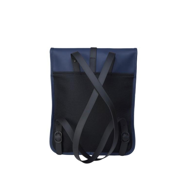 Rucksack Backpack Micro Blue, Farbe: blau/petrol, Marke: Rains, EAN: 5711747472306, Abmessungen in cm: 27.0x33.0x7.0, Bild 2 von 5