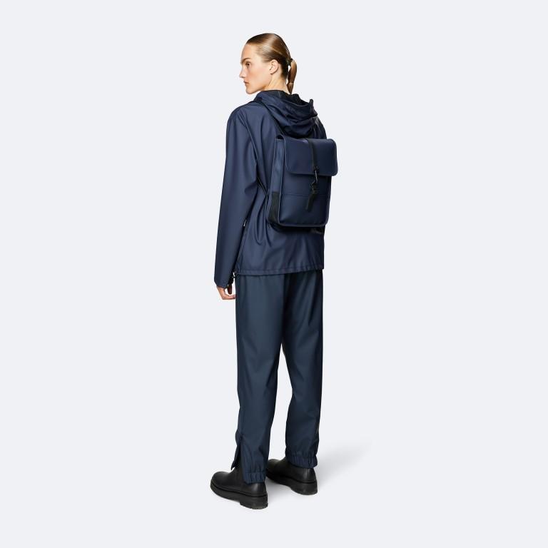 Rucksack Backpack Micro Blue, Farbe: blau/petrol, Marke: Rains, EAN: 5711747472306, Abmessungen in cm: 27.0x33.0x7.0, Bild 3 von 5