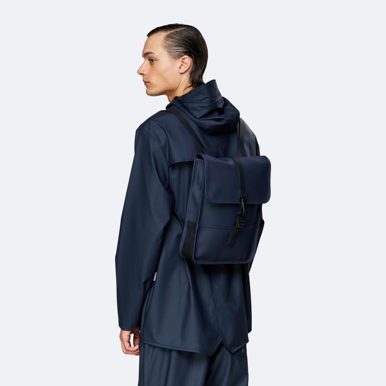 Rucksack Backpack Micro Blue, Farbe: blau/petrol, Marke: Rains, EAN: 5711747472306, Abmessungen in cm: 27.0x33.0x7.0, Bild 4 von 5