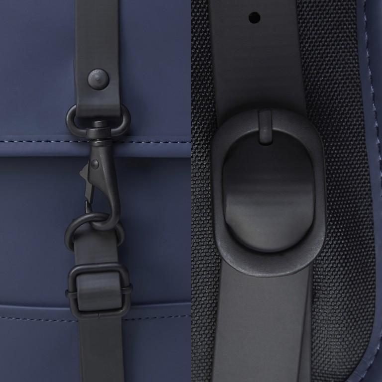 Rucksack Backpack Micro Blue, Farbe: blau/petrol, Marke: Rains, EAN: 5711747472306, Abmessungen in cm: 27.0x33.0x7.0, Bild 5 von 5