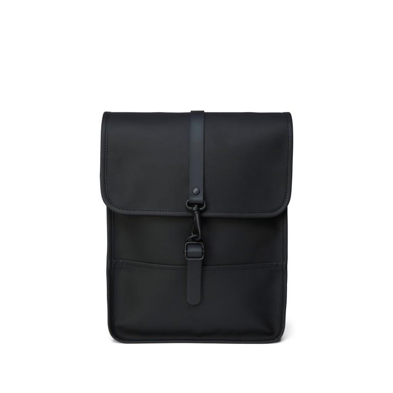 Rucksack Backpack Micro Black, Farbe: schwarz, Marke: Rains, EAN: 5711747462628, Abmessungen in cm: 27.0x33.0x7.0, Bild 1 von 5