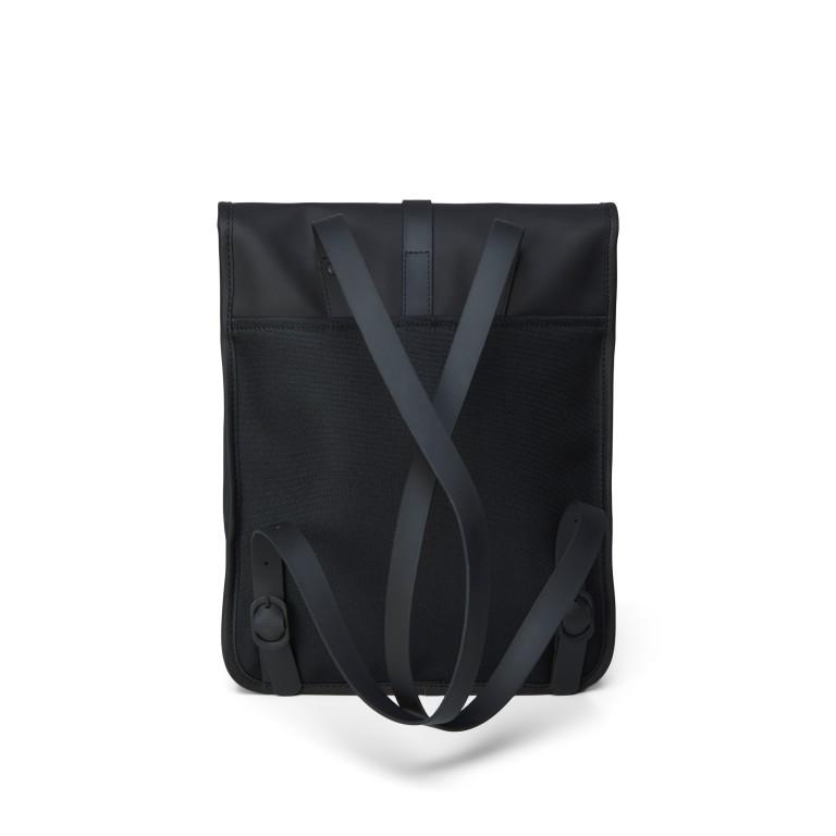 Rucksack Backpack Micro Black, Farbe: schwarz, Marke: Rains, EAN: 5711747462628, Abmessungen in cm: 27.0x33.0x7.0, Bild 2 von 5