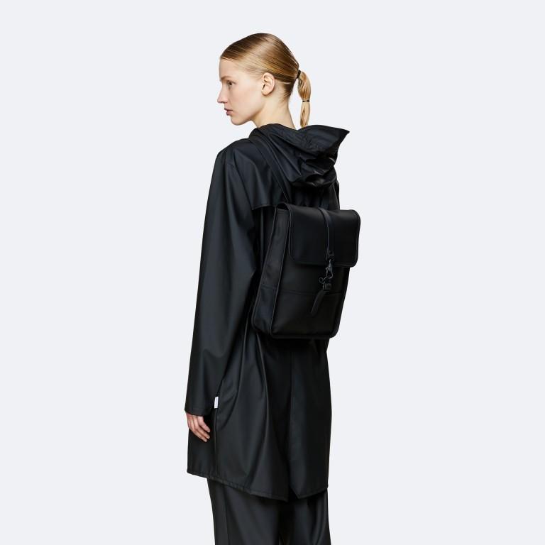 Rucksack Backpack Micro Black, Farbe: schwarz, Marke: Rains, EAN: 5711747462628, Abmessungen in cm: 27.0x33.0x7.0, Bild 3 von 5
