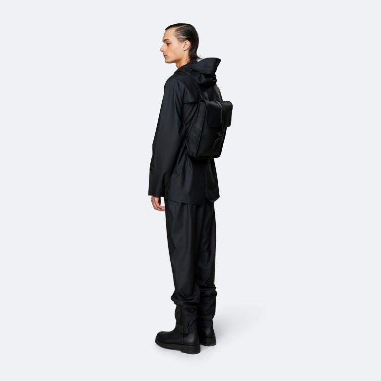 Rucksack Backpack Micro Black, Farbe: schwarz, Marke: Rains, EAN: 5711747462628, Abmessungen in cm: 27.0x33.0x7.0, Bild 4 von 5