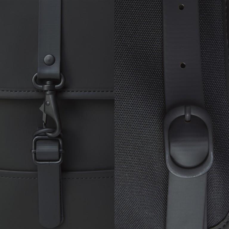 Rucksack Backpack Micro Black, Farbe: schwarz, Marke: Rains, EAN: 5711747462628, Abmessungen in cm: 27.0x33.0x7.0, Bild 5 von 5