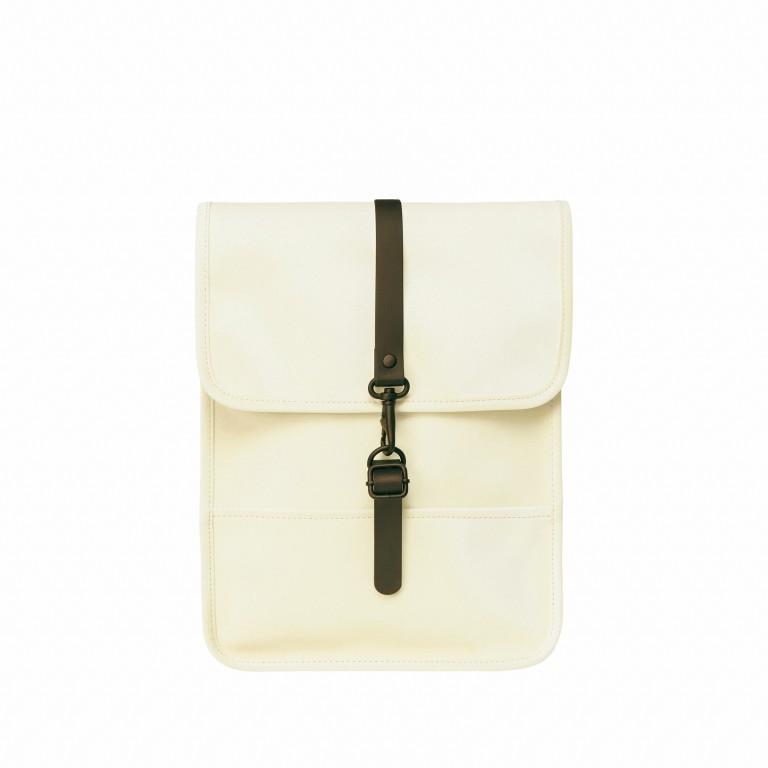 Rucksack Backpack Micro Pearl, Farbe: beige, Marke: Rains, EAN: 5711747472320, Abmessungen in cm: 27.0x33.0x7.0, Bild 1 von 5