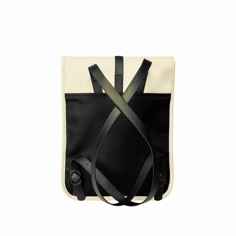 Rucksack Backpack Micro Pearl, Farbe: beige, Marke: Rains, EAN: 5711747472320, Abmessungen in cm: 27.0x33.0x7.0, Bild 2 von 5