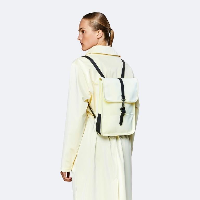 Rucksack Backpack Micro Pearl, Farbe: beige, Marke: Rains, EAN: 5711747472320, Abmessungen in cm: 27.0x33.0x7.0, Bild 3 von 5