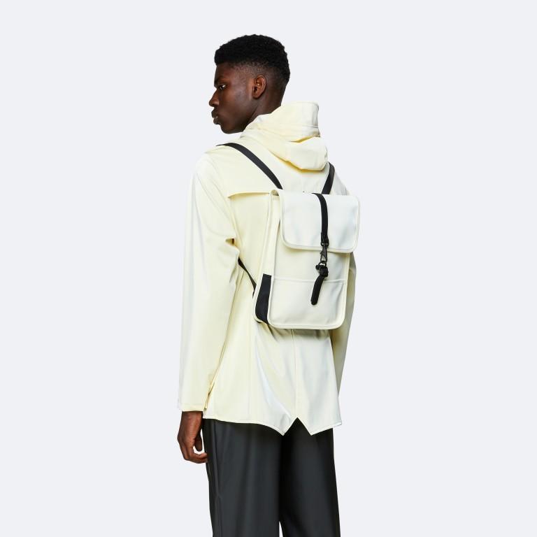 Rucksack Backpack Micro Pearl, Farbe: beige, Marke: Rains, EAN: 5711747472320, Abmessungen in cm: 27.0x33.0x7.0, Bild 4 von 5