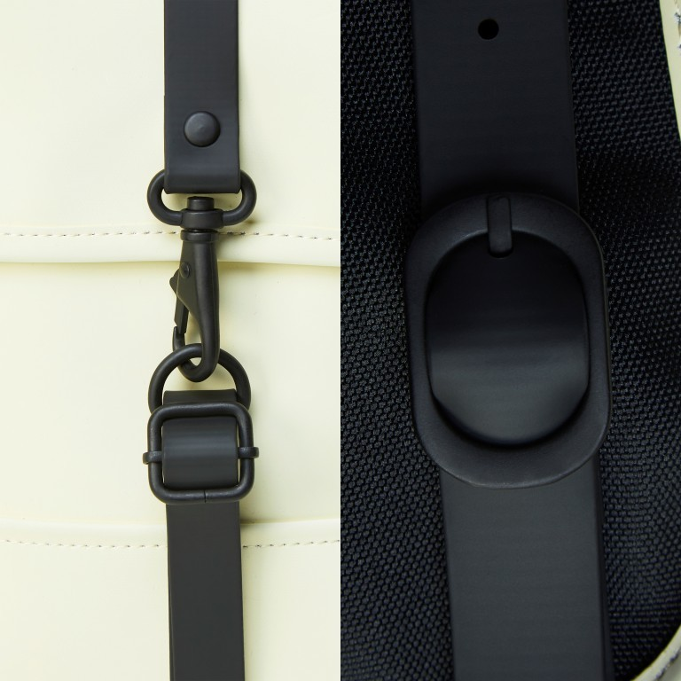 Rucksack Backpack Micro Pearl, Farbe: beige, Marke: Rains, EAN: 5711747472320, Abmessungen in cm: 27.0x33.0x7.0, Bild 5 von 5