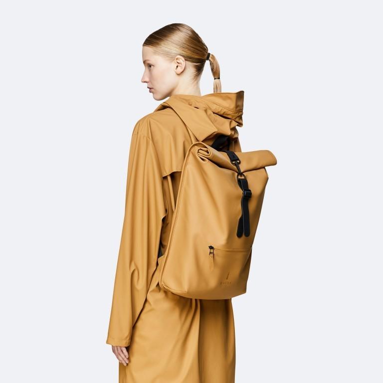 Rucksack Rolltop Khaki, Farbe: taupe/khaki, Marke: Rains, EAN: 5711747469726, Bild 3 von 5