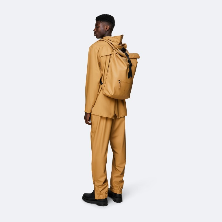 Rucksack Rolltop Khaki, Farbe: taupe/khaki, Marke: Rains, EAN: 5711747469726, Bild 4 von 5