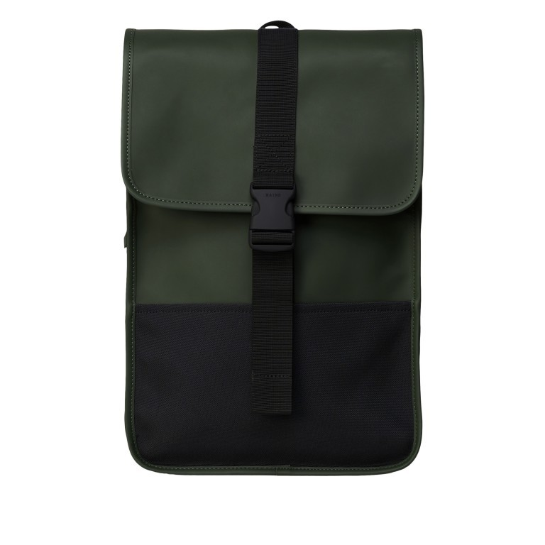 Rucksack Buckle Backpack Mini Green, Farbe: grün/oliv, Marke: Rains, EAN: 5711747472344, Abmessungen in cm: 29.0x42.0x8.0, Bild 1 von 5