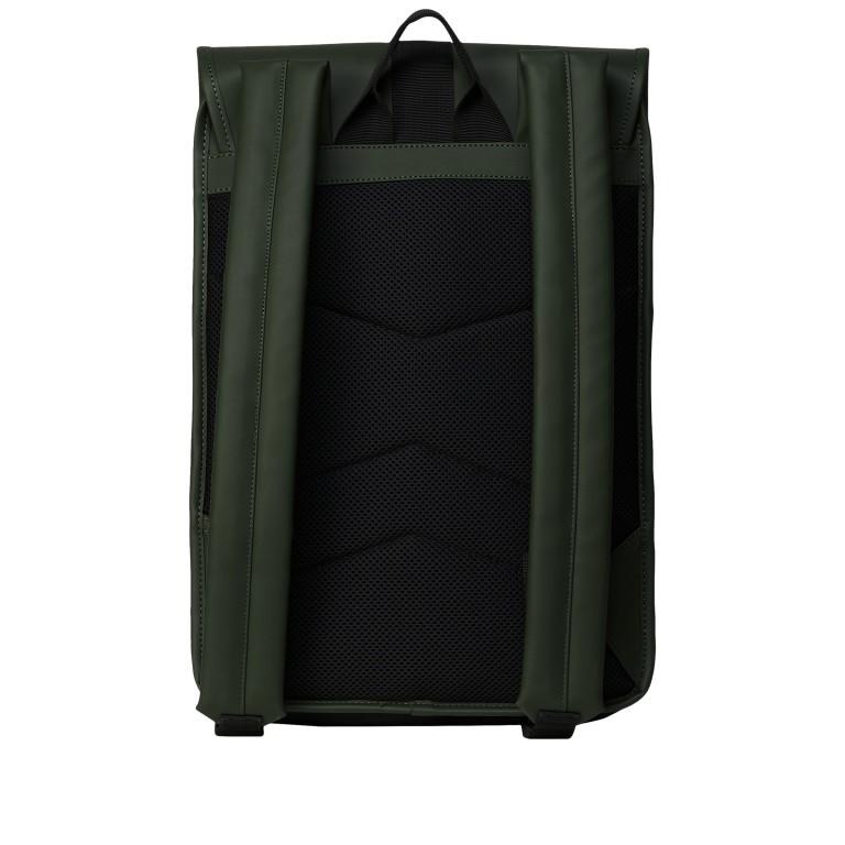 Rucksack Buckle Backpack Mini Green, Farbe: grün/oliv, Marke: Rains, EAN: 5711747472344, Abmessungen in cm: 29.0x42.0x8.0, Bild 2 von 5