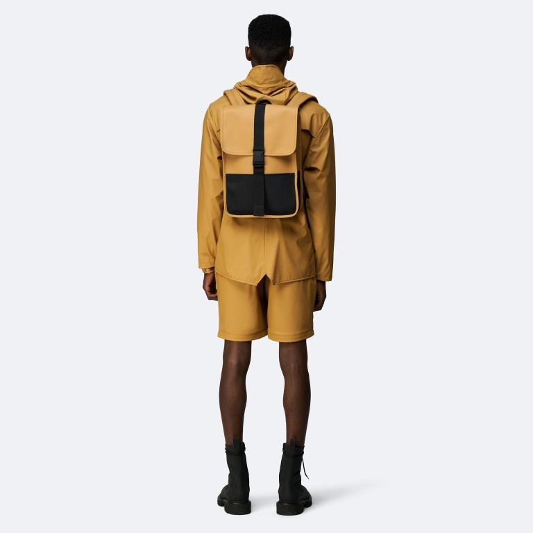 Rucksack Buckle Backpack Mini Khaki, Farbe: taupe/khaki, Marke: Rains, EAN: 5711747472351, Abmessungen in cm: 29.0x42.0x8.0, Bild 3 von 5
