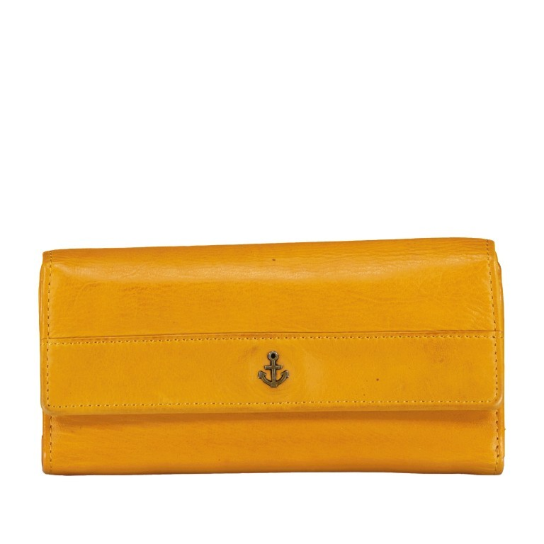 Geldbörse Anchor-Love Fayette B3.1549 Oriental Mustard, Farbe: gelb, Marke: Harbour 2nd, EAN: 4046478035898, Abmessungen in cm: 18.5x9.5x3.0, Bild 1 von 7