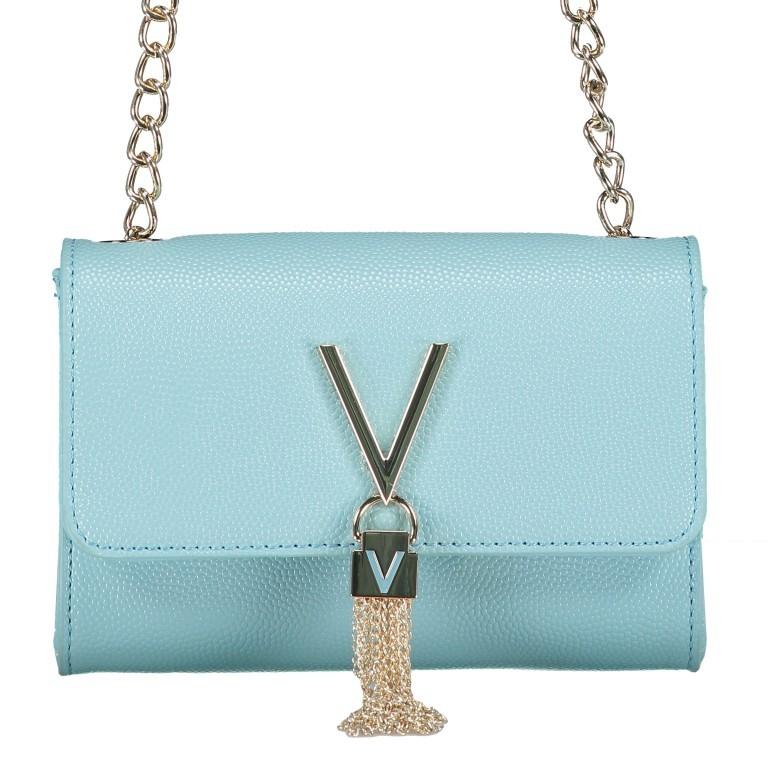 Umhängetasche Divina Azzurro, Farbe: blau/petrol, Marke: Valentino Bags, EAN: 8058043315706, Abmessungen in cm: 17.5x11.5x6.0, Bild 1 von 6