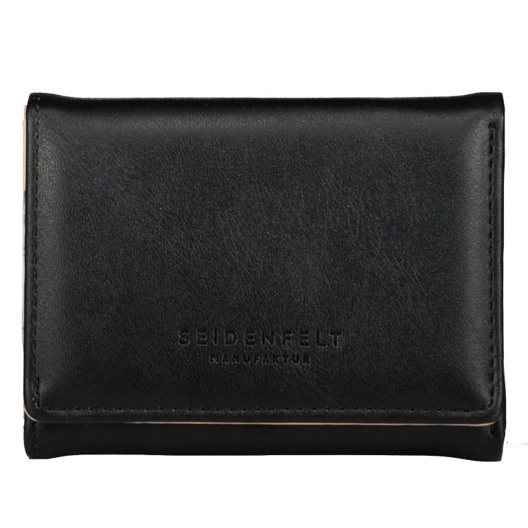 Geldbörse Svea Black Gold, Farbe: schwarz, Marke: Seidenfelt, EAN: 4251634255571, Abmessungen in cm: 8.0x11.0x2.0, Bild 1 von 4