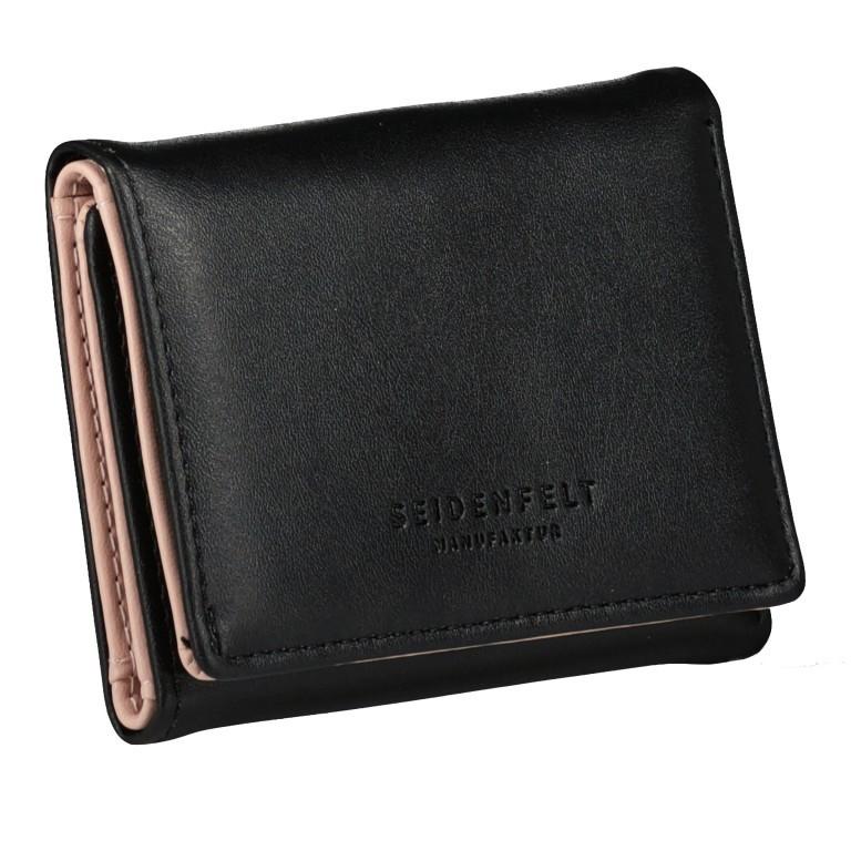 Geldbörse Svea Black Gold, Farbe: schwarz, Marke: Seidenfelt, EAN: 4251634255571, Abmessungen in cm: 8.0x11.0x2.0, Bild 2 von 4