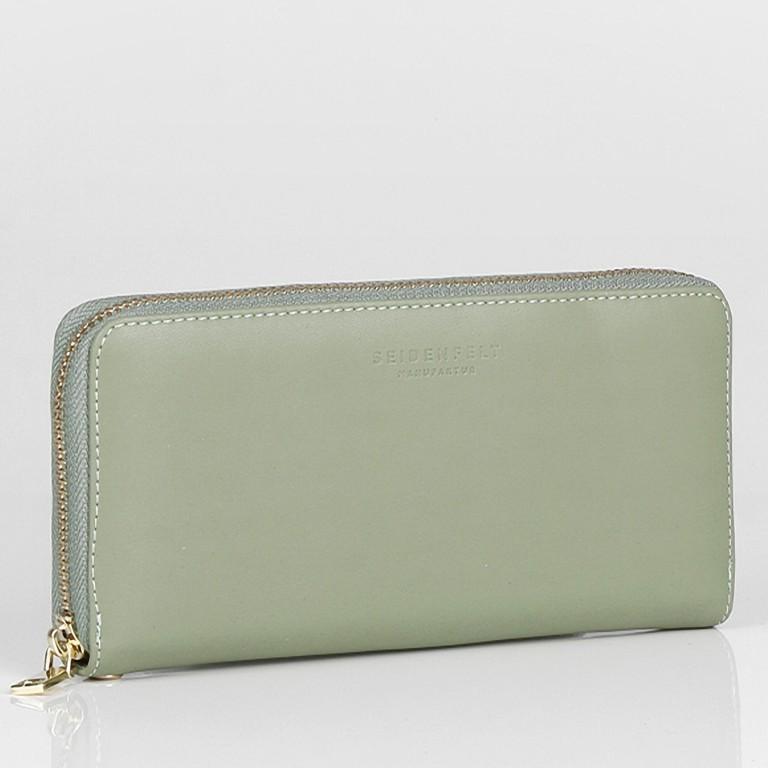 Geldbörse Smilla Matcha Green Gold, Farbe: grün/oliv, Marke: Seidenfelt, EAN: 4251634250989, Abmessungen in cm: 19.0x9.5x2.5, Bild 2 von 5