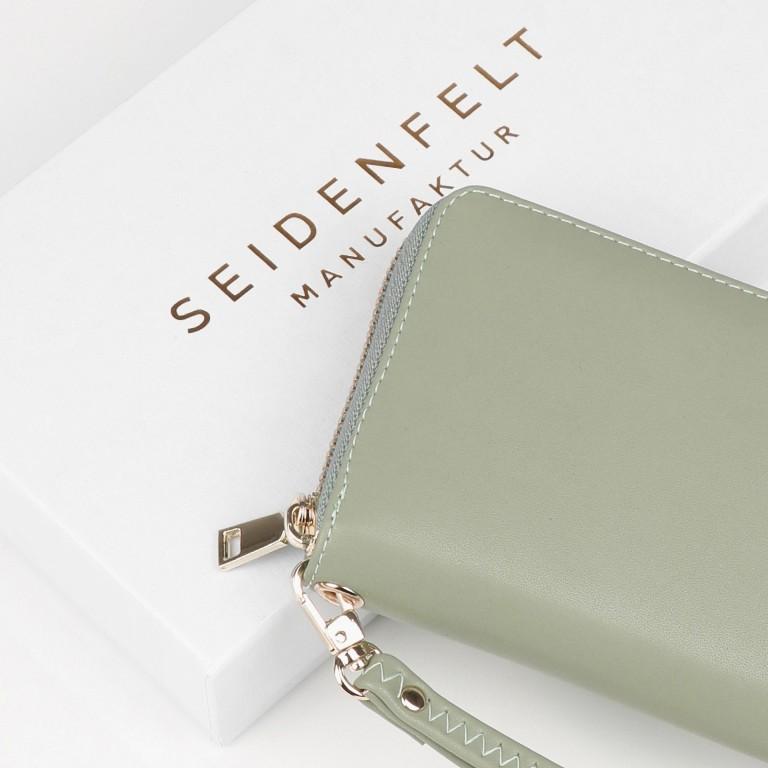Geldbörse Smilla Matcha Green Gold, Farbe: grün/oliv, Marke: Seidenfelt, EAN: 4251634250989, Abmessungen in cm: 19.0x9.5x2.5, Bild 5 von 5