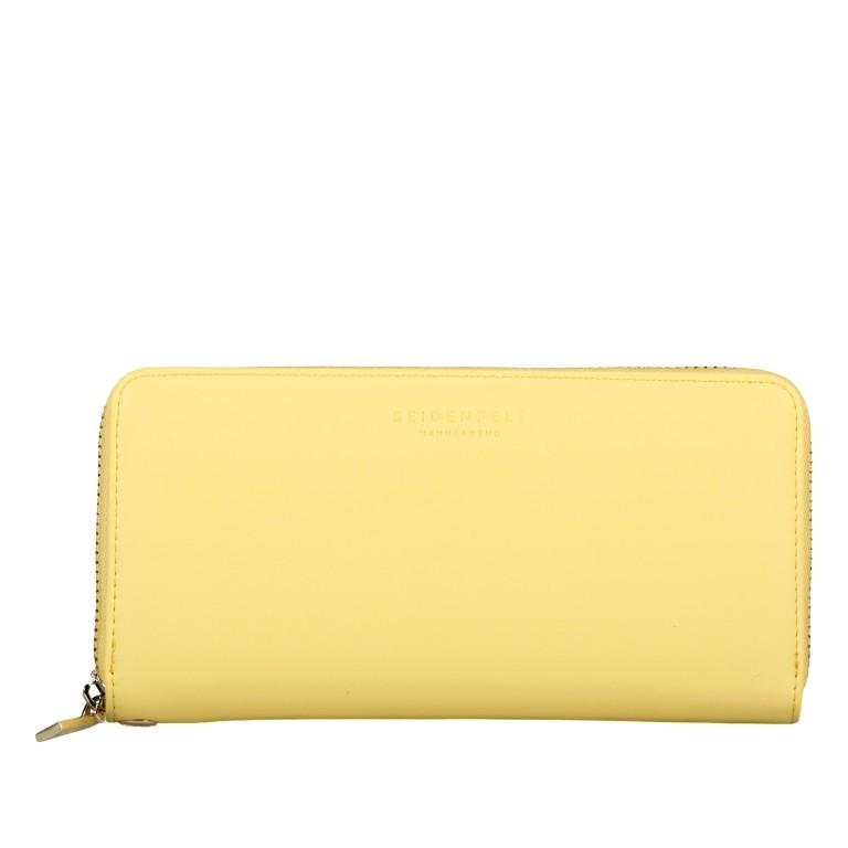 Geldbörse Smilla Lemon Gold, Farbe: gelb, Marke: Seidenfelt, EAN: 4251634251009, Abmessungen in cm: 19.0x9.5x2.5, Bild 1 von 5