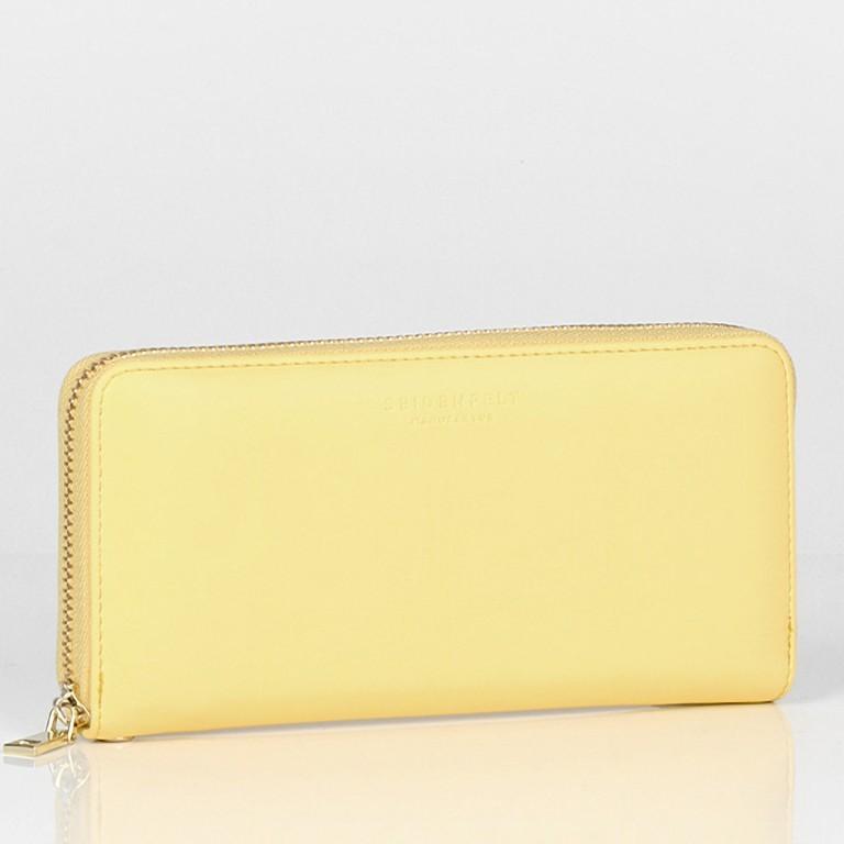 Geldbörse Smilla Lemon Gold, Farbe: gelb, Marke: Seidenfelt, EAN: 4251634251009, Abmessungen in cm: 19.0x9.5x2.5, Bild 2 von 5