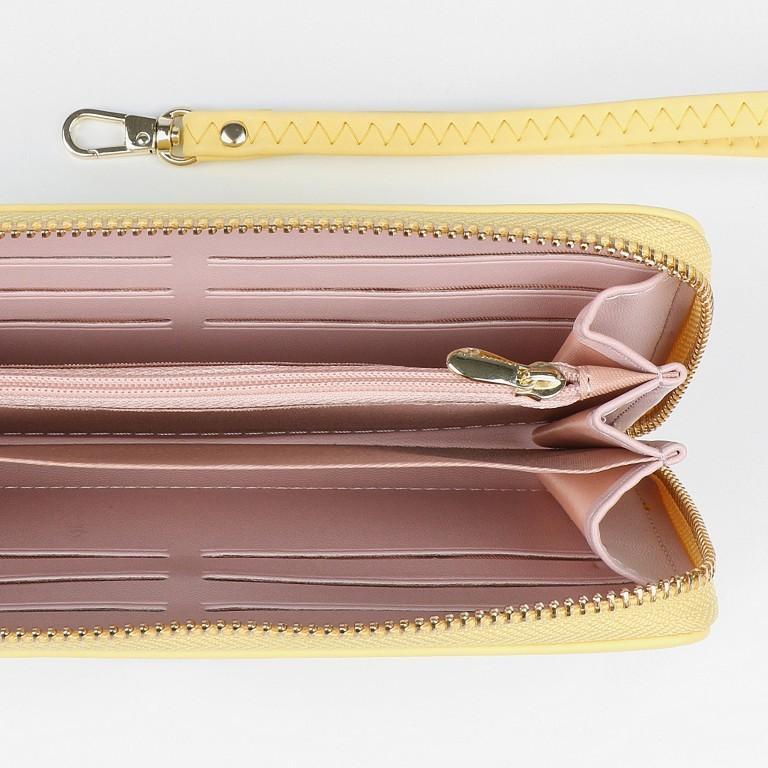 Geldbörse Smilla Lemon Gold, Farbe: gelb, Marke: Seidenfelt, EAN: 4251634251009, Abmessungen in cm: 19.0x9.5x2.5, Bild 3 von 5