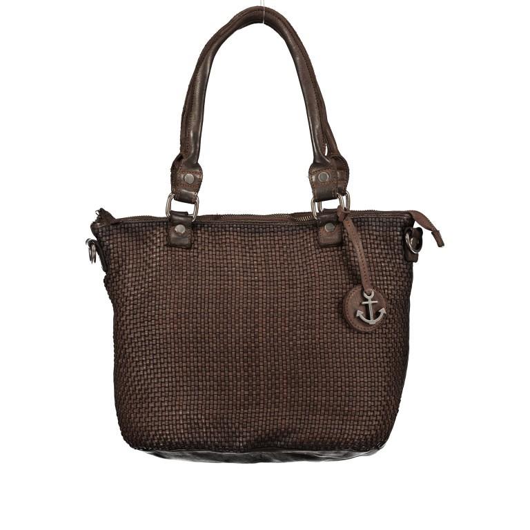 Shopper Soft-Weaving Soraya SW.10500 Chocolate Brown, Farbe: braun, Marke: Harbour 2nd, EAN: 4046478051782, Abmessungen in cm: 33.5x26.0x12.5, Bild 1 von 10