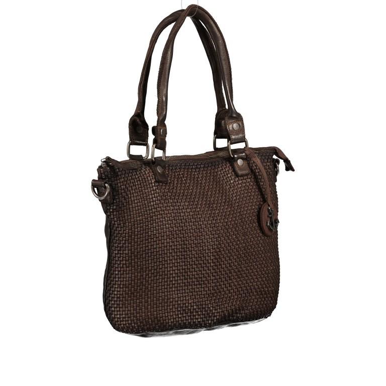 Shopper Soft-Weaving Soraya SW.10500 Chocolate Brown, Farbe: braun, Marke: Harbour 2nd, EAN: 4046478051782, Abmessungen in cm: 33.5x26.0x12.5, Bild 2 von 10