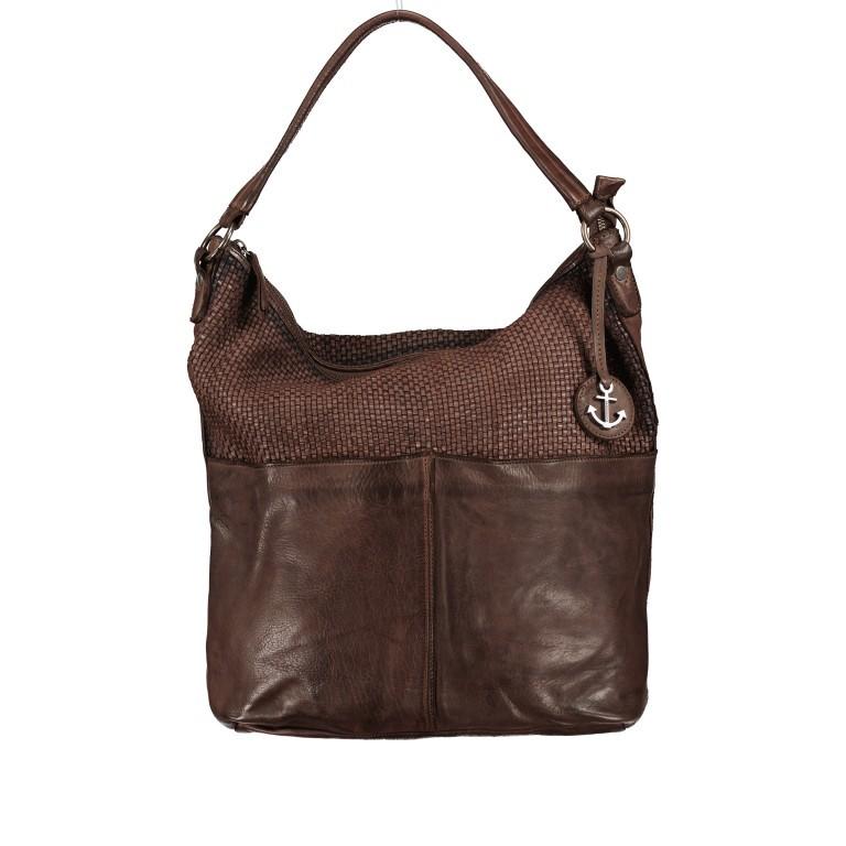 Beuteltasche Soft-Weaving Antonia SW.10501 Chocolate Brown, Farbe: braun, Marke: Harbour 2nd, EAN: 4046478051836, Abmessungen in cm: 41.0x36.5x14.0, Bild 1 von 9