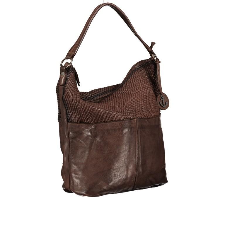 Beuteltasche Soft-Weaving Antonia SW.10501 Chocolate Brown, Farbe: braun, Marke: Harbour 2nd, EAN: 4046478051836, Abmessungen in cm: 41.0x36.5x14.0, Bild 2 von 9
