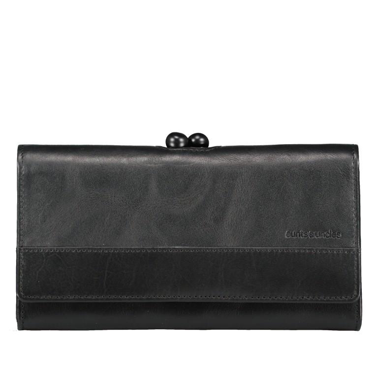 Geldbörse Grandma's Luxury Club Stella mit Bügelverschluss Black Smoke, Farbe: schwarz, Marke: Aunts & Uncles, EAN: 4250394966970, Abmessungen in cm: 19.0x10.0x3.0, Bild 1 von 5