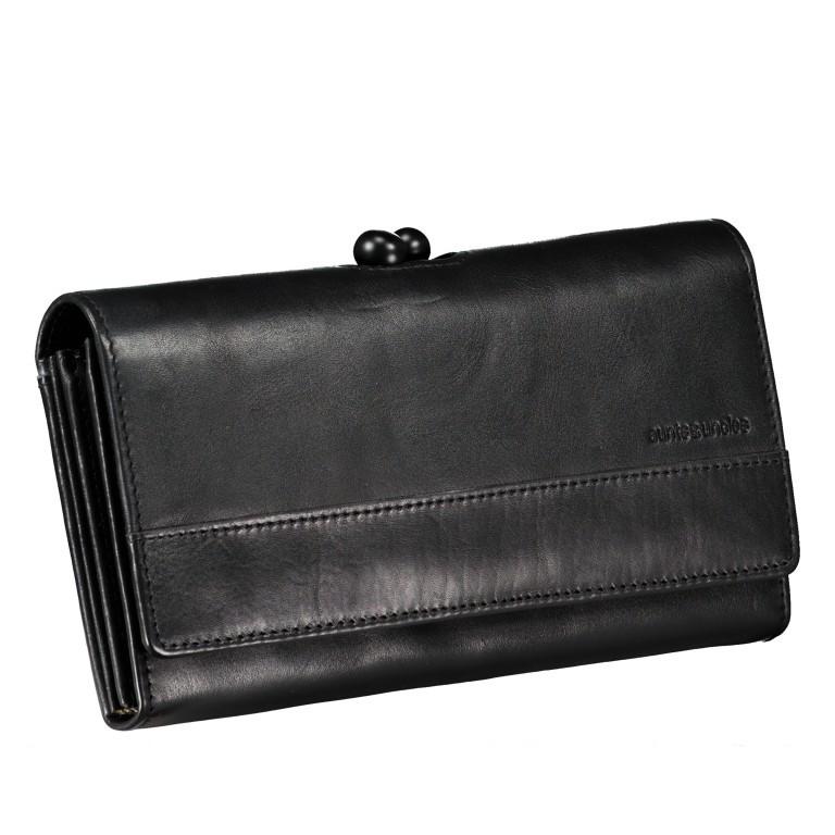 Geldbörse Grandma's Luxury Club Stella mit Bügelverschluss Black Smoke, Farbe: schwarz, Marke: Aunts & Uncles, EAN: 4250394966970, Abmessungen in cm: 19.0x10.0x3.0, Bild 2 von 5