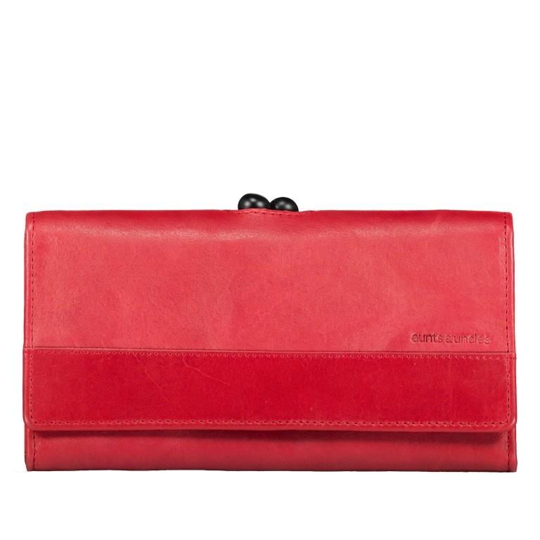 Geldbörse Grandma's Luxury Club Stella mit Bügelverschluss Crimson Red, Farbe: rot/weinrot, Marke: Aunts & Uncles, EAN: 4250394967014, Abmessungen in cm: 19.0x10.0x3.0, Bild 1 von 5